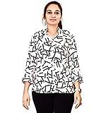 Dhruvi Trendz Western wear Diamond Crepe Shirt for Women/Girls (101014)
