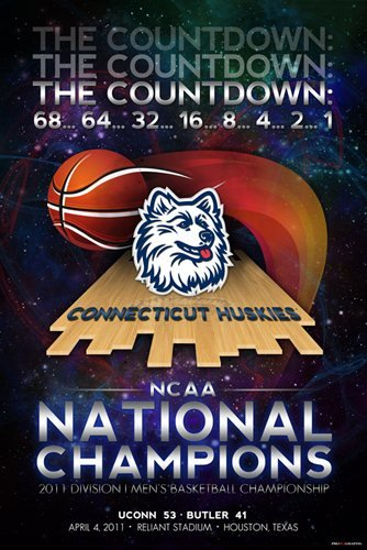 Pro Graphs Connecticut UCONN Huskies 2011 Basketball National Champions Poster Print 24x36