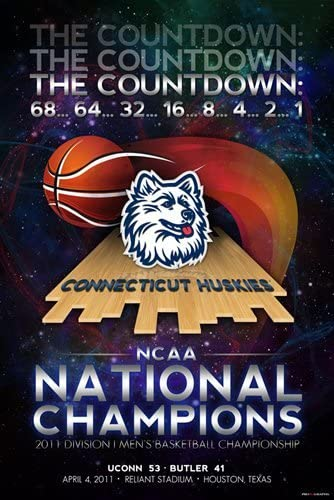 Connecticut UCONN Huskies 2011 Basketball National Champions Poster Print 24x36