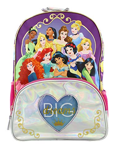 Disney Princess Kids (Disney Princess Girl's 16 Inch School Backpack Bag (One Size,)