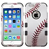 Wydan Compatible Case for iPhone 6S / 6, 4.7 Inch - TUFF Hybrid Hard Shockproof Phone Case Protective Heavy Duty Shock Resistant Absorbent Tough Impact Phone Cover - Baseball for Apple