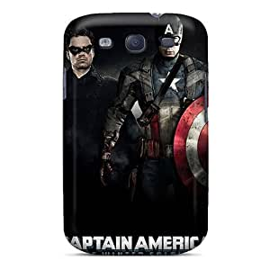 S3 Scratch-proof Protection Case Cover For Galaxy/ Hot Captain America Winter Soldier Phone Case