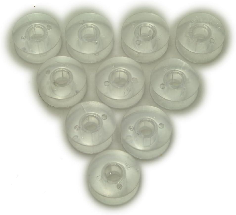 Máquina de coser transparente bobinas 10pk: Amazon.es: Hogar