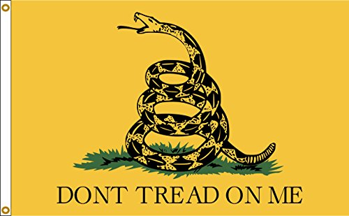 (Gadsden Dont Tread On Me 12inx18in Nylon Flag 12x18 Made In USA 12