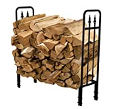 PAZINGA 4-Foot Heavy Duty Firewood Log Rack Firewood Holder