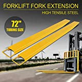 "72x5.8"" Forklift Pallet Fork Extensions Pair Lift Truck Lifting 2 Thickness"