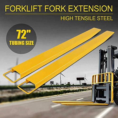 """72x5.8"""" Forklift Pallet Fork Extensions Pair Lift Truck Lifting 2 Thickness"""