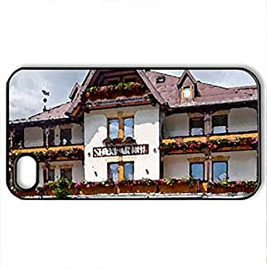 lintao diy Beautiful... - Case Cover for iPhone 4 and 4s (Houses Series, Watercolor style, Black)