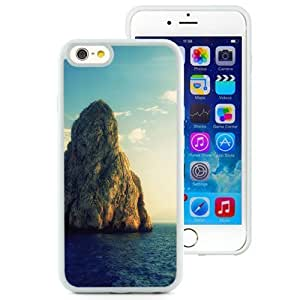 Fashionable Custom Designed Iphone 5C Inch TPU Phone Case With Huge Rock Island_White Phone Case