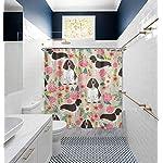"NiYoung Shower Curtain Decorative Bath Curtain, Bathroom Water-Resistant Bathtub Curtain - English Springer Spaniel, 72"" x 70"" 9"