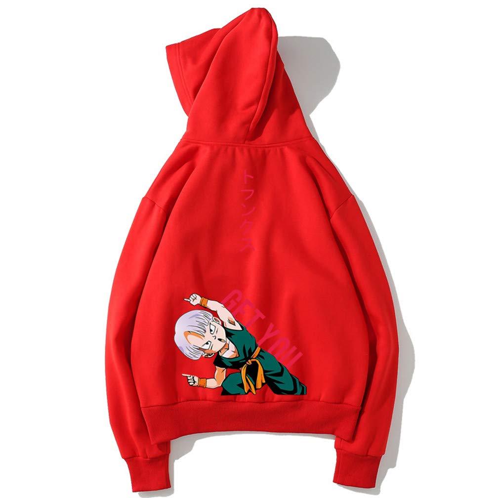 Unisex Hip hop Dragon Ball Z Vegeta Printed Hoodie Pullover Fleece Sweatshirt Top Coat Anime Cosplay Goku Jacket