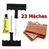 kit de reparation avec mèches pour pneu tubeless - Kit de réparation + Recharge
