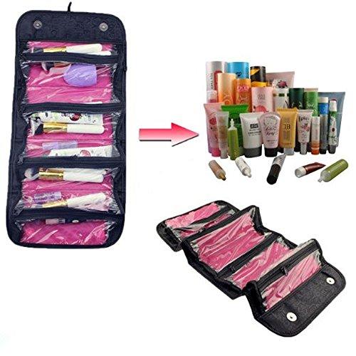 ETGtek 1PCS beweglicher Roll Folding Travel Buddy-Kosmetik-Beutel-Kasten-Organisator mit Snap-Halt die Klappe