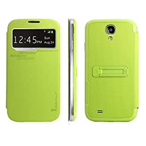 KCASE High quality Slim Battery Cover Flip Wallet Leather Pouch Stand Slim Case For Samsung Galaxy S4 I9500 Green