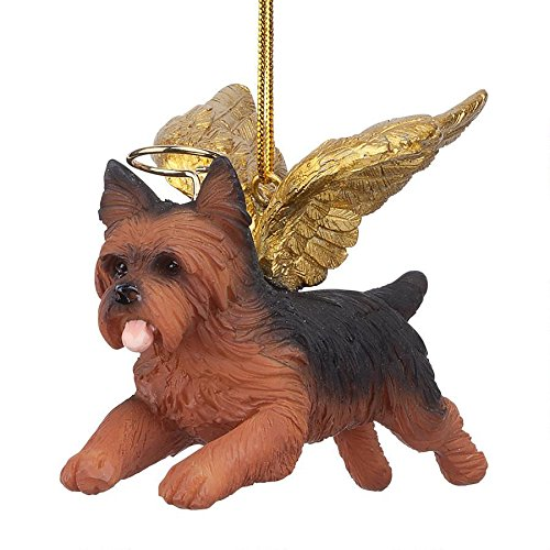 Christmas Tree Ornaments - Honor The Pooch Yorkie Holiday Angel Dog Ornaments