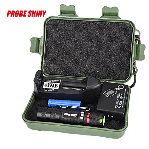 DBHAWK G700 Zoomable XML Q5 LED 1000 Lumens Tactical Flashlight+14500 Battery+Charger+Case+ Flashlight ()