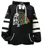 Black Hawks Skull Black/White Game Day Hockey