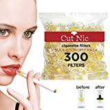 Cut-Nic 4 HOLE Disposable Cigarette Filters - Bulk Economy Pack (300 Per Pack)