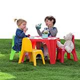 Starplay Keren Kids Play Table & 4 Chairs Primary