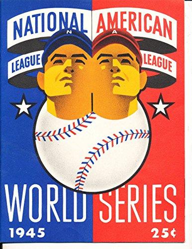 1945 Detroit Tigers Chicago Cubs World Series Program