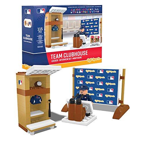 MLB Clubhouse /Locker Set OYO MLB Logo W/ 30 Team Labels Mini Figure ()
