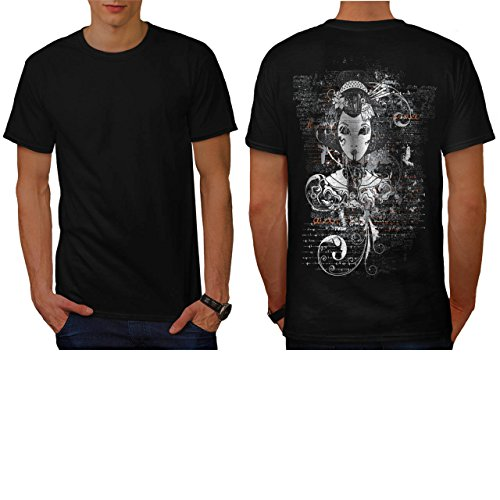gothic-asian-lady-geisha-world-men-new-m-t-shirt-back-wellcoda