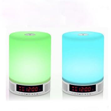 Amazon.com: tupucn LED lámpara de noche, con altavoz ...