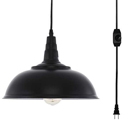 Amazon.com: HMVPL Lámpara de techo industrial con cable ...