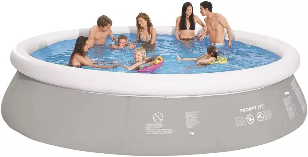 Jilong Piscina gris inflable redonda, 450 x 122 cm, : Amazon.es ...