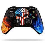 (American Warrior Skull) Custom Xbox One Controller with Exclusive Design Vinyl Skin Decal Uniquely Hand Painted and Air-Brushed