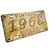 Metal License Plate Vintage Year 1968, Born/Made - Neonblond