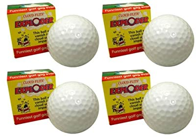 Exploding Golf Ball Four Pack by Cloud-Flite