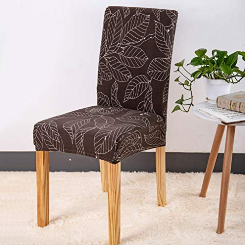 (YURASIKU 6PCS Printed Spandex Chair Cover for Dining Room Washable Anti-Dirty Chair Slipcover for Kitchen Hotel)