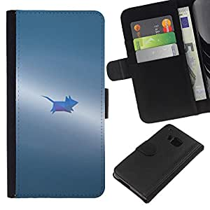 All Phone Most Case / Oferta Especial Cáscara Funda de cuero Monedero Cubierta de proteccion Caso / Wallet Case for HTC One M9 // Grey Small Painted Cute
