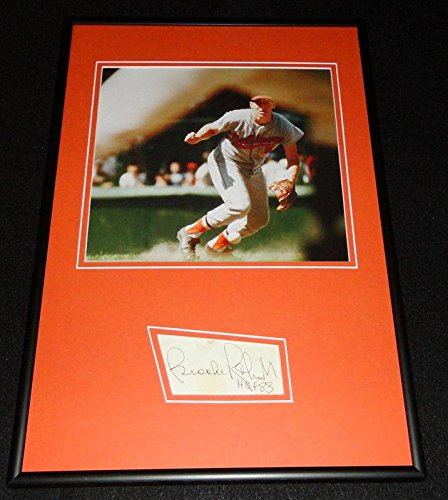 - Brooks Robinson Autographed Photograph - Framed 12x18 Display - Autographed MLB Photos