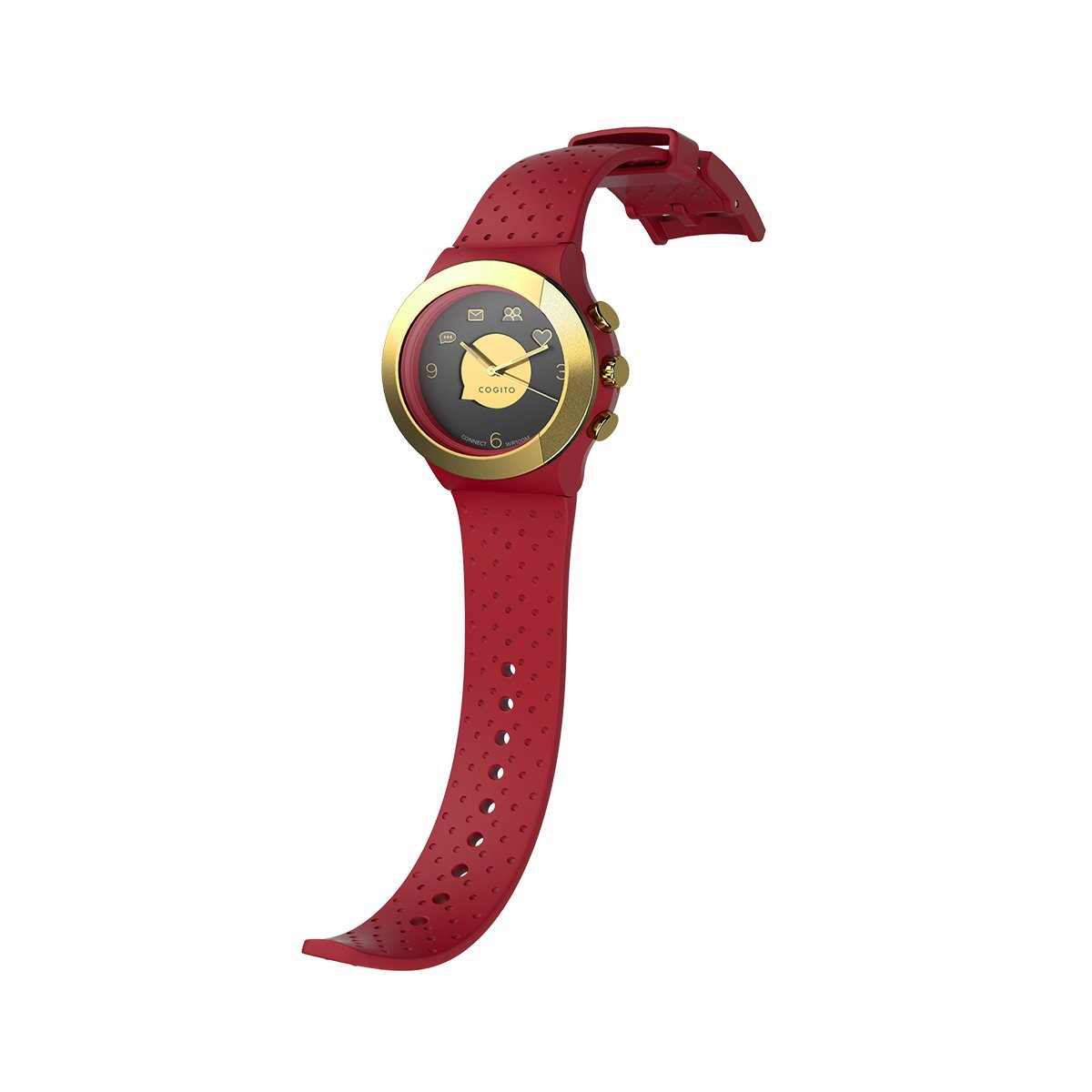 Cogito FIT - Smartwatch con Bluetooth, color rojo y ora ...