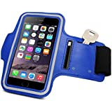 SEC Gym Sports Armband-Wrist Band-Mono Trendy and Functional Sports Armband for Large Screen Size (4.5 to 5.5 Inch) Smart Phone(Drak blue)