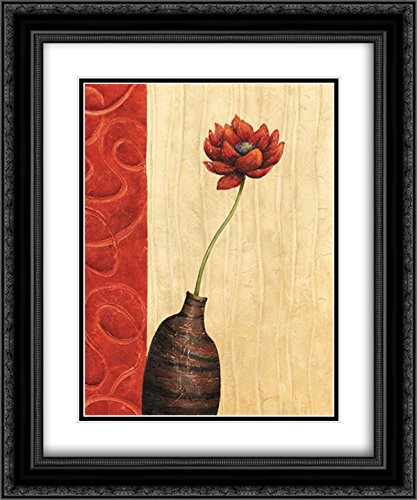 Rouge III 2X Matted 20x24 Black Ornate Framed Art Print by Corbin, Delphine