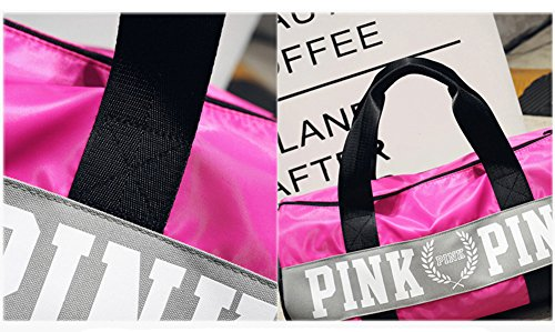 Folding Bags Beauty Water Resistant Grey Bag Gym Sports Holdall or Pink Nylon Shoulder Design Smooth Lightweight qXXwUHp
