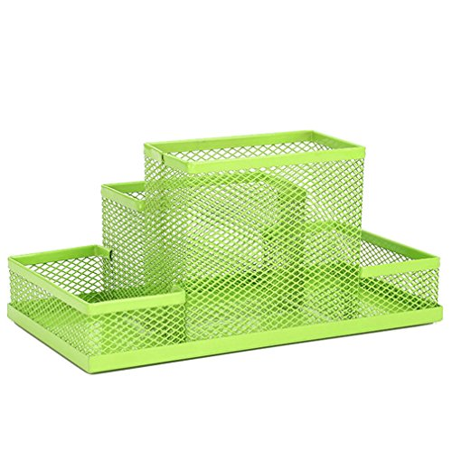 JUJU MALL-Metal Mesh Office Pen Pencils Holder Desk Stationery Storage Organizer - Oakland Mall Detroit