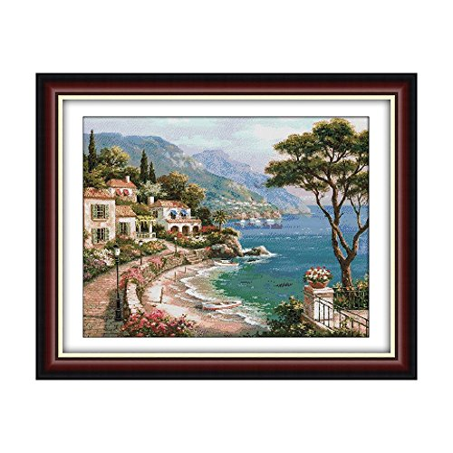 Decdeal Cross-Stitching, 24.8 19.7 inches Harbor of Love Pat