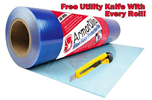 """ArmorDillo Strong 24"""" x 200' Easy To Use Hardwood Floor, Hard Surface Protection Film"""