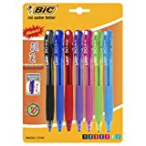 BIC 4-Color Mini Fashion Ball Pens Retractable, Assorted, Medium Point, 1-Pack