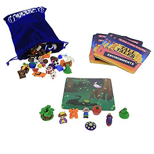 SCS Direct, Tall Tales Story Telling Board Game - The Educational Family Game of Infinite Storytelling - 5 Ways to Play - Promotes Creativity and Language Skills