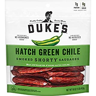 Duke's Hatch Green Chile Pork Sausages, 16 Ounce