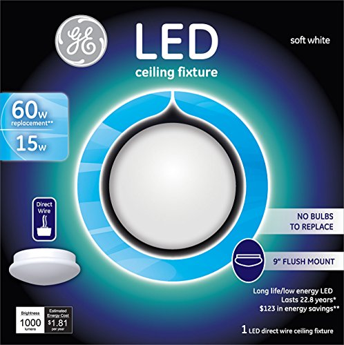 GE Lighting 20433 LED 15-watt (60-watt replacement), 975-Lumen 12-Inch Indoor Fixture, Direct-Wire, 1-Pack Various Size and Style