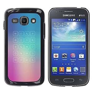 PC/Aluminum Funda Carcasa protectora para Samsung Galaxy Ace 3 GT-S7270 GT-S7275 GT-S7272 glass app purple blue fog message / JUSTGO PHONE PROTECTOR