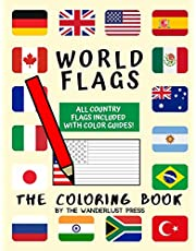 World Flags: The Coloring Book: A great geography gift for kids and adults: Color in flags for all countries of the world with color guides to help. Perfect for creativity, stress relief and general fun.