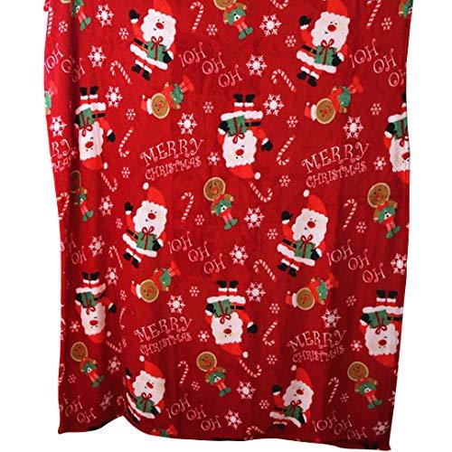 Home Lover Designs Christmas Sherpa Throw Blanket,Super Soft Warm Fuzzy Comfy Lambswool Snowflake Blankets Reversible Plush Fleece Kids Santa Claus Snowman Elk Christmas -