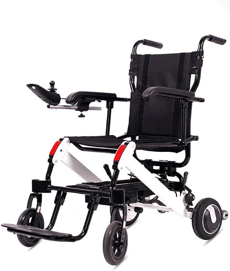 Hyl Sillas de Ruedas Silla de Ruedas eléctrico, Bold Marco de aleación de Aluminio, Plegable, Durable, Puede ser Utilizado for los Ancianos, (Size : No Cushion 10A)